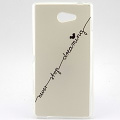 The Line Of Letters Pattern Soft TPU Case for Sony Xperia M2