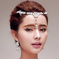 Γυναικείο Στρας Τιτάνιο Headpiece-Γάμος Ειδική Περίσταση Υπαίθριο Αλυσίδα για το Κεφάλι