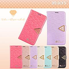 leiers®weave Leder Geldbörse Bling Diamant-Flip-Kartensteckplatz Fallabdeckung für Samsung-Galaxieanmerkung 2 (farblich sortiert)