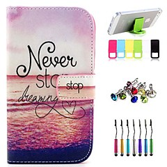 Red Tide Pattern Full Body Case with Stylus ,Anti-Dust Plug and Stand for Samsung Galaxy Grand Neo I9060