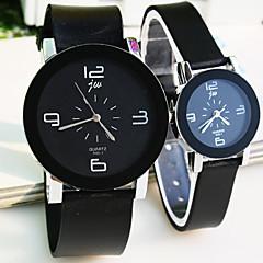 Couple's Round Dial Plastic Strap Simple Quartz Watch (Assorted Colors) Cool Watches Unique Watches
