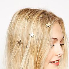 estilo europeu de moda estrelas do ouro virar primavera clipe noiva cocar hairpin (single)
