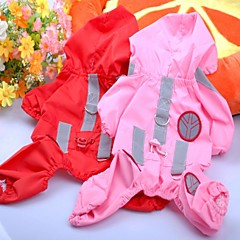 Perros Impermeable Rojo / Rosado / Rosa Ropa para Perro Verano Clásico A Prueba de Agua / Cosplay