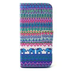 Για Samsung Galaxy Θήκη Θήκες Καλύμματα Πορτοφόλι Θήκη καρτών με βάση στήριξης Πλήρης κάλυψη tok Ελέφαντας Σκληρή PU Δέρμα για Samsung S6
