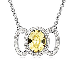 Candy Girl Short Necklace Plated with 18K True Platinum Jonquil Crystallized Austrian Crystal Stones