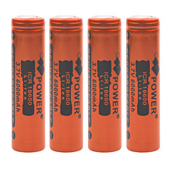Power 3.7V 6000mAh 18650 Rechargeable Lithium Ion Battery(4pcs)