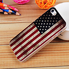 usa peinture drapeau TPU tomber preuve complète cas de corps pour iPhone5 / 5s