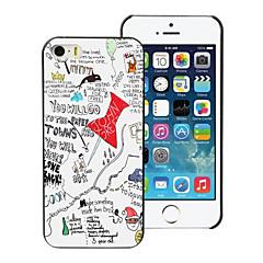 caso duro carta città pc progetto per iPhone 5 / 5s