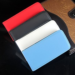 Open Up and Down Solid Color PU Leather Full Body Protective and Case for iPhone 4 /4S (Assorted Colors)