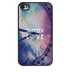 Summer Love Design Aluminum Hard Case for iPhone 4/4S