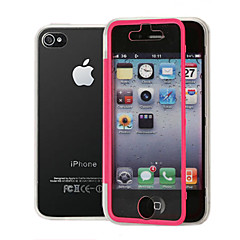 Transparent Flip Free Turn Touch TPU Triple Phone Case for iPhone 4/4S(Assorted Colors)
