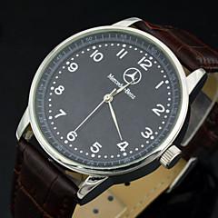 menns luksus merkevare kjole kvarts armbåndsur PU skinn stropp sports klokke menn (flere farger)