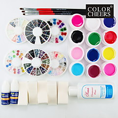 12PCS Pure Color UV Gel & Fast-drying Polish&Nail Art Manicure Accessories kit