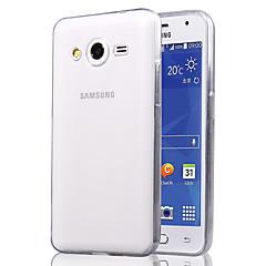 ultra-ohut läpinäkyvä suojaava TPU pehmeä kotelo Samsung Galaxy core2 g355h (eri värejä)