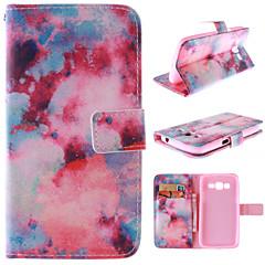 Na Samsung Galaxy Etui Etui na karty / Z podpórką / Flip / Wzór Kılıf Futerał Kılıf Krajobraz Skóra PU Samsung Grand 2