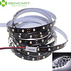 SENCART 5 M 300 3528 SMD Blanc Découpable/Intensité Réglable/Connectible/Pour Véhicules/Auto-Adhésives 25 WBandes Lumineuses LED