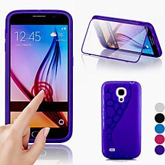 Big D tactile vue TPU&silicone rabat pour Samsung Galaxy Mini i9190 (couleurs assorties)