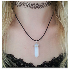 Fashion Fishing Line Tattoo Kit necklace Natural Crystal Stone Pendant Necklace Multilayer Combination(2pcs/set)