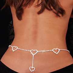 Women's Body Jewelry Belly Chain Body Chain Rhinestone Simulated Diamond Unique Design Fashion Sexy Heart Jewelry White JewelryDaily
