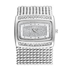la mode strass brass band de la chaîne de cristal de luxe des femmes de bracelet à quartz dames poignet habillé montre bracelet