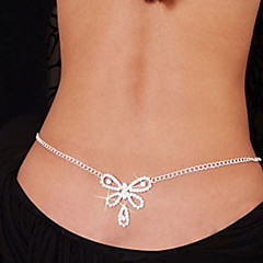 Women's Body Jewelry Belly Chain Body Chain Rhinestone Simulated Diamond Unique Design Fashion Sexy Jewelry White JewelryDaily Casual