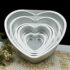 5 hüvelykes fém szerelmes szív alakú torta forma, levehető élő alsó tészta penész