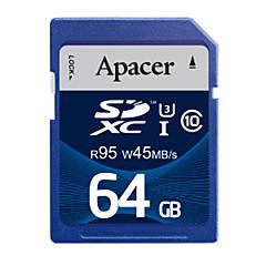 Apacer의 메모리 카드 SDHC의 64 기가 바이트 UHS-I U3 CLASS10 R95 / W45