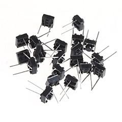 6 * 6 * 5mm mikrokapcsoló érintőképernyős kapcsoló gomb kapcsolja vízszintes két kis láb (20db)