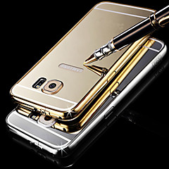 Luxury Plated Metal Frame Adds Transparent PC Cover Phone Shell for Samsung Galaxy S6