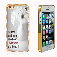 The Flower Design Luxury Hybrid Bling Glitter Sparkle With Crystal Rhinestone Case for iPhone 5/5S