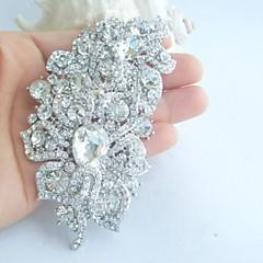 bryllup tilbehør sølv-tone klar rhinestone krystal brude broche bryllup deco blomst bryllup broche brudebuket