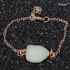 Euner® 2015 New Style Drusy Bracelet Bangle For Women Natural Stone Hand Made Bracelets Crystal Bracelet