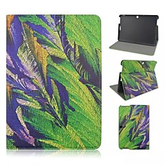 Sketch Painting Feathers Patterns PU Leather Full Body Case with Card Slot for Asus Memo Pad 10 ME103K