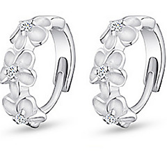 Silver Plated Earring Hoop Earrings Wedding/Party/Daily/Casual (1pair)