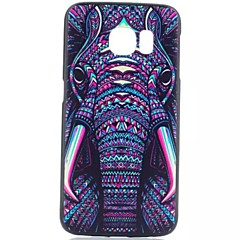 For Samsung Galaxy Case Pattern Case Back Cover Case Elephant PC Samsung S6 edge