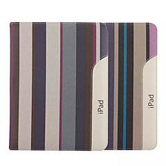 9.7 tommers stripemønster lerret sak med stativ for ipad 2/3/4 (assorterte farger)