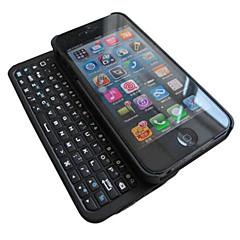 clavier sans fil Bluetooth rétroéclairé avec chargeur micro USB ultra-mince affaire clavier QWERTY complet pour iPhone5 / 5s
