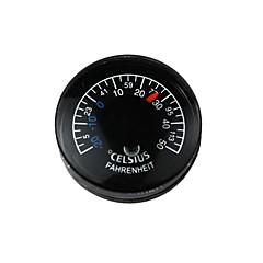 Plastic Circular Waterproof Household / Industry Indoor Outdoor Thermometer - Black