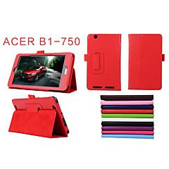 """pu skinn solide farger hele kroppen tilfeller tilfeller med stativ 7 """"for Acer Iconia en 7 b1-750 (assorterte farger)"""