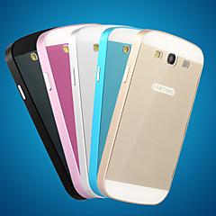 metallirunko akryyli peili taustalevy metallia kova kotelo Samsung Galaxy S3 i9300 (eri värejä)