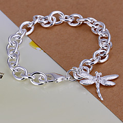 Siver Plated Animal Pattern Copper Chain Bracelet
