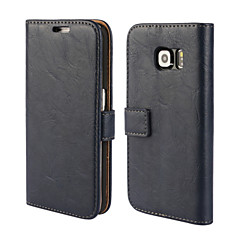 Bark Grain Genuine Leather Full Body Cover with Stand and Case for Samsung Galaxy S6 Edge (Assorted Colors)