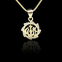 18k oro verdadero plateado allah musulmán circón islámico micro-encerrado colgante 1.9 * 2cm