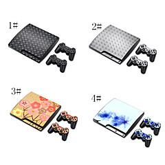 autocollant couverture de décalque de vinyle pour PS3 Slim + 2 contrôleurs