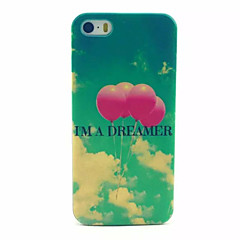 Balloon Pattern Transparent Frosted PC Back Cover For  iPhone 5/5S