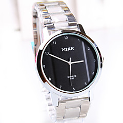 Men's New Casual Simple Round Dial PC Movement Steel Strap Fashion Life Waterproof Quartz Watch (Assorted Colors)