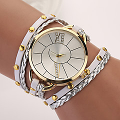 New Hot Women Dress Watches High-Quality Punk Retro Leather Strap Bracelet Laminated Quartz Hot Sale Cool Watches Unique Watches