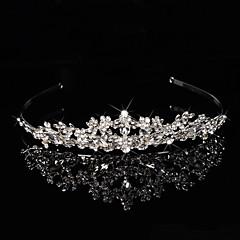 Bridal Crown Silver Tiara Queen Crystal/Diamond Hairclips Headpiece Handmake For Wedding/Party