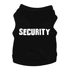 Gatos / Perros Camiseta Negro Verano Letra y Número Moda / Casual/Diario