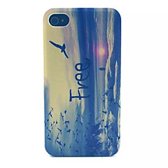 Soar Pattern Transparent Frosted PC Back Cover For  iPhone 4/4S